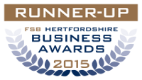 Runner Up FSB Hertfordshire Business Awards 2015